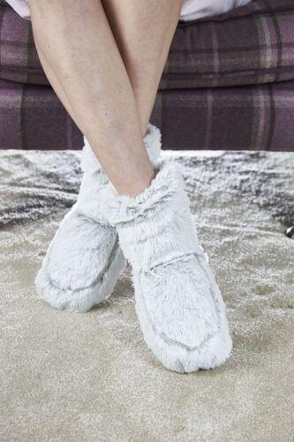 Nouveau Warmies Cozy Body gris Guimauve Doux Fourrure Micro-Ondable Slipper boots
