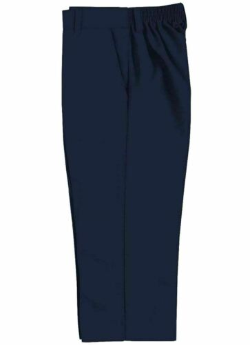 Boys Half Elastic Waist Zip /& Clip Trousers Kids School Uniform Teflon Pants