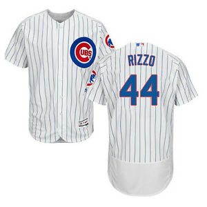 best service 8f259 1f12c Details about Anthony Rizzo #44 Chicago Cubs Mens White Cool Flex Baseball  Home Game Jersey