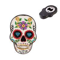 Sugar Skull Day Of The Dead Fridge Magnet Halloween Bottle Opener Beer Gift