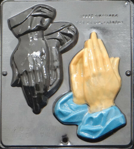 Large Praying Hands Religious Chocolate Candy Mold  403 NEW