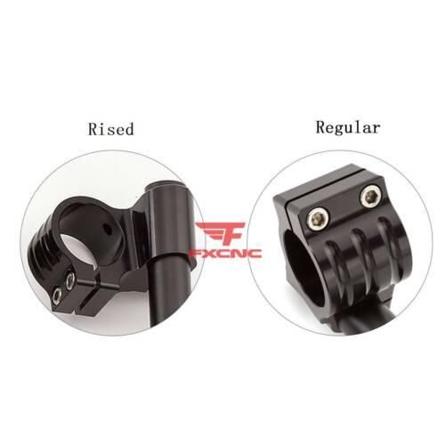 31mm-54mm Fork Clip-ons Handlebars Heads Mounts Bar Riser Regular Black CNC Set