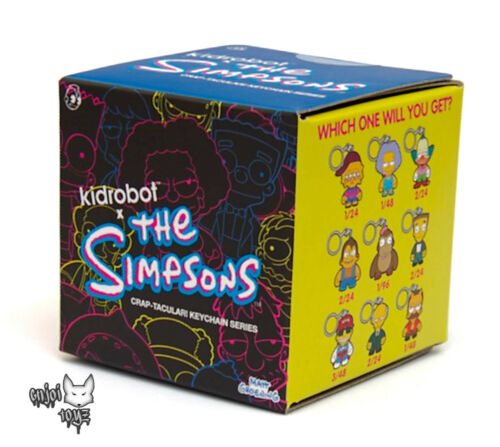 One New Sealed Blind Box 1 The Simpsons Crap-Tacular Keychain Series