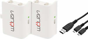 Venom-Rechargeable-Battery-for-XBox-One-Twin-Pack-White-2-x-Batteries