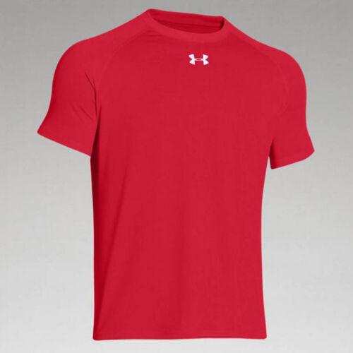 NEW Red Under Armour UA Locker Short Sleeve Senior Athletic Tee Shirt