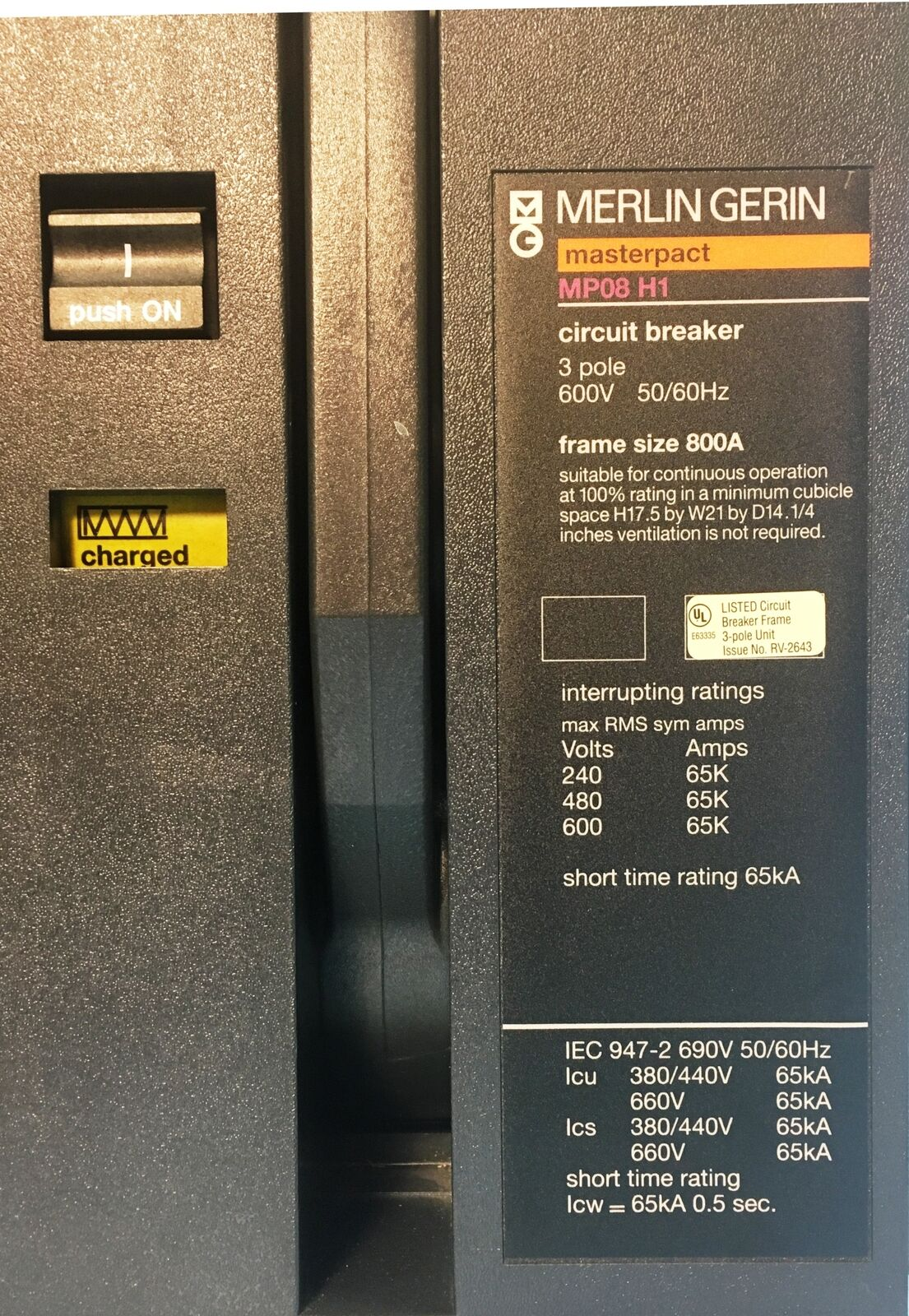Merlin Gerin Mp08h1 800a Masterpact Lsi Circuit Breaker W Uvr Mp08 Replacement Parts Lift Breakers Time Delay Norton Secured Powered By Verisign