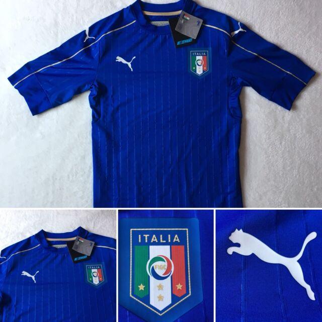 buy popular a1f2f 780ae Men's Puma FIGC Italy Italia Home Authentic Soccer Jersey 748828-01 Size  Medium
