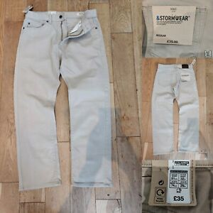 MARKS-amp-SPENCER-Men-Light-Beige-Natural-Jeans-W32-L29-New-35-Denim-Trousers-M-amp-S