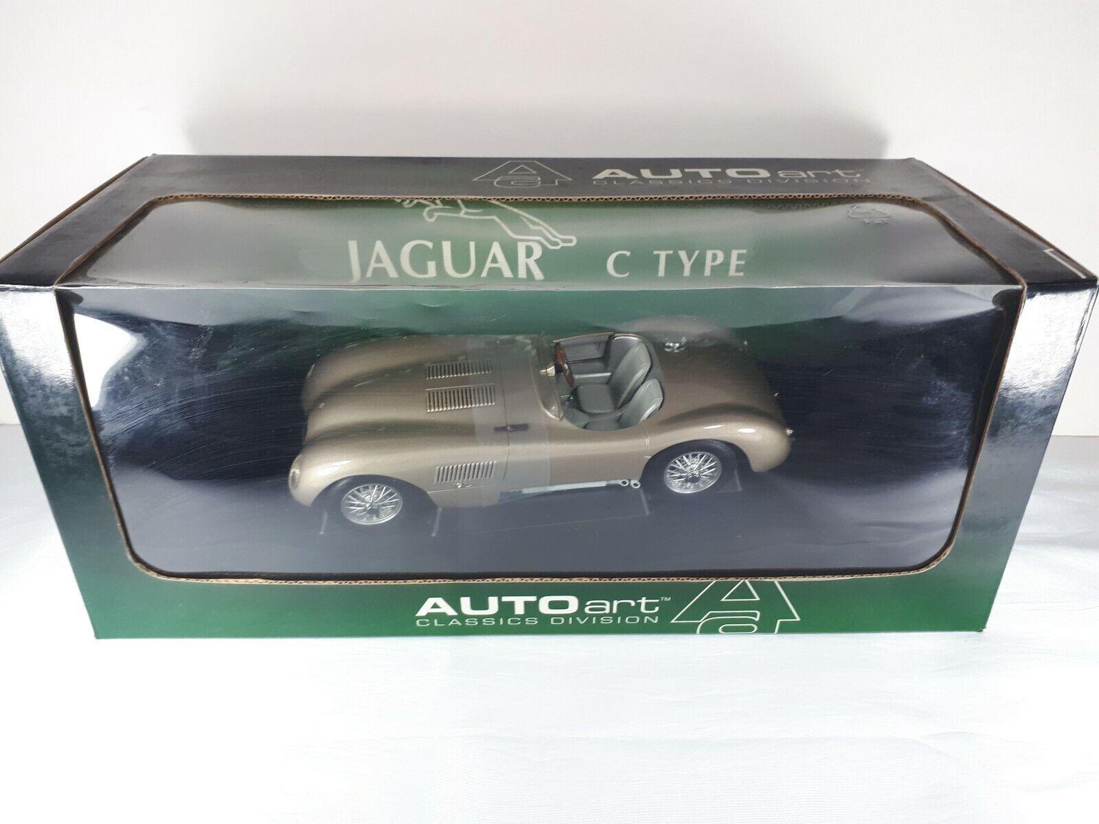 Jaguar C-type 1 18 Autoart Bronce Menta en Caja Casi Nuevo