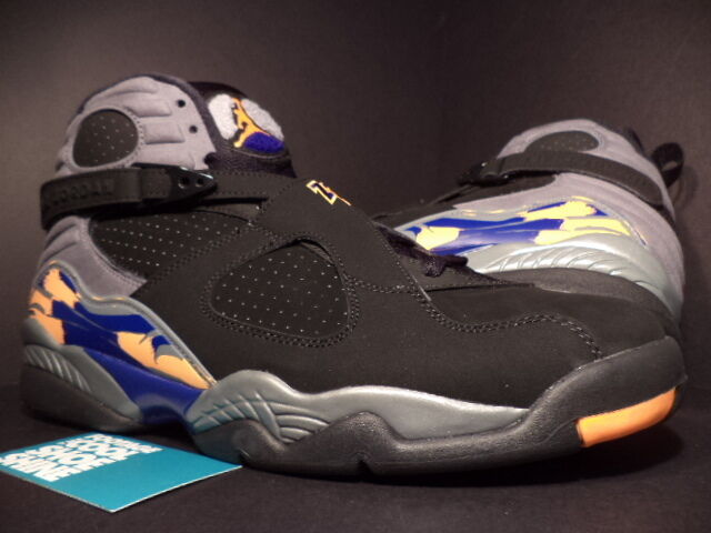 Nike Air Jordan VIII 8 Retro PHOENIX SUNS BLACK COOL GREY ORANGE 305381-043 11