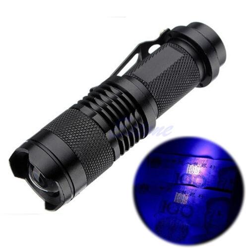 Mini Portable UV Ultra LED Flashlight Violet Purple Blacklight Lamp Torch Light