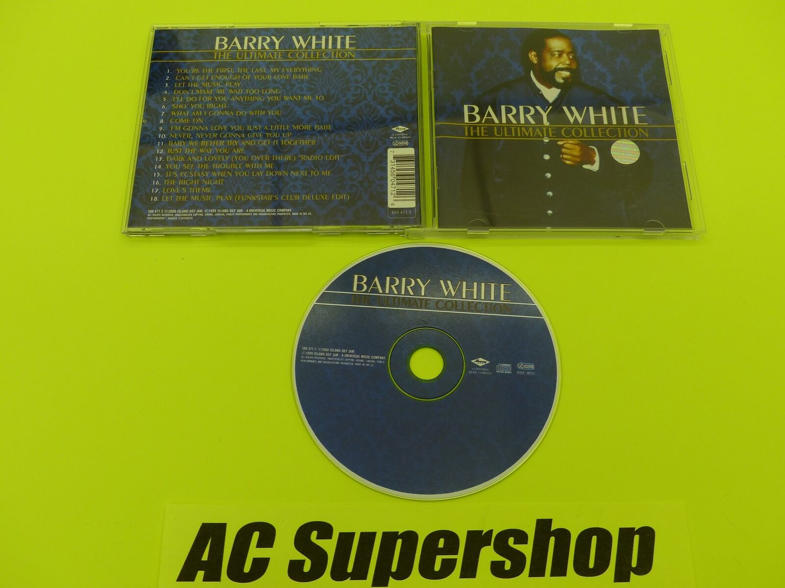 Barry White Ultimate Collection: Barry White The Ultimate Collection - CD Compact Disc