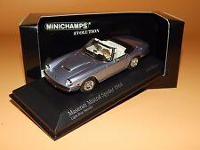 Maserati Mistral Spyder 1964 Blue met. 437123432 Minichamps Resin Scale 1/43 OVP