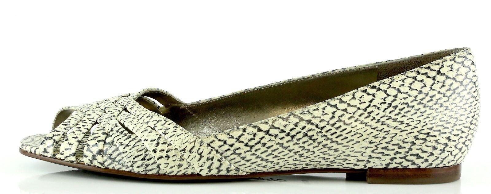 Cole Haan Air CHLOE Snake Print Peep Toe Flats 8894 Taglia 8.5 B NEW!