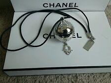 Christian Dior Beauty DiorLight Silver Tone Jewel Ball Locket Lip Gloss Necklace