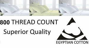 800-TC-Hilos-100-Algodon-Egipcio-Funda-De-Almohada-Par-Ama-De-Casa-Oxford