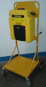 station portable stand eyewash encon gravity fed