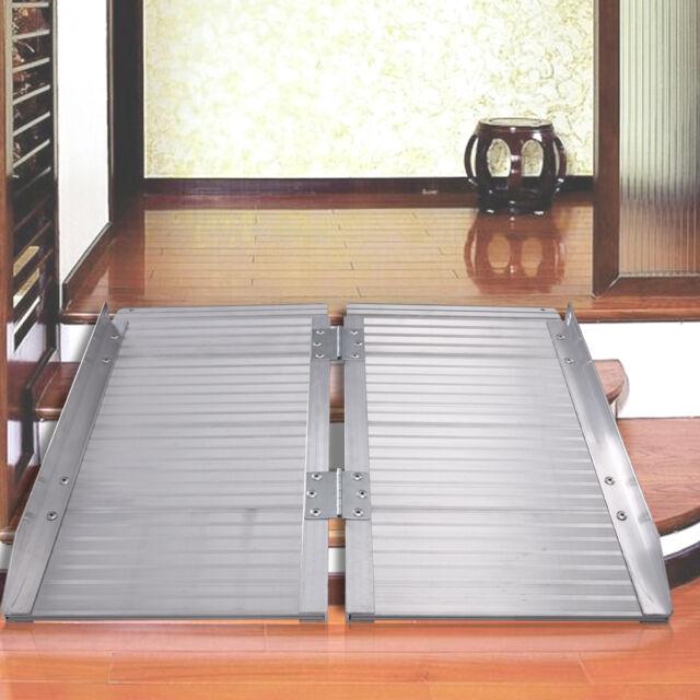 3 aluminum fold portable wheelchair ramp mobility handicap suitcase