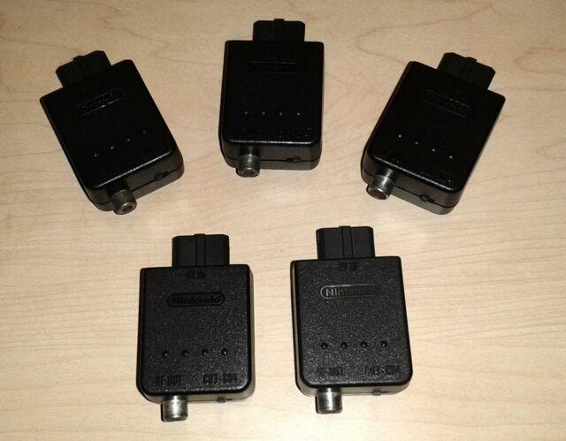 Nintendo 64 N64 SNES RF Modulator NUS-003 AV Adapter Switch Module connector lot