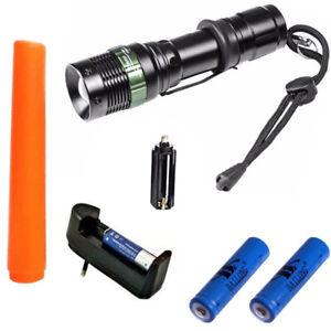 TORCIA-TATTICA-MILITARE-LED-CREE-3-in-1-140000-LUMEN-con-2-pile-18650