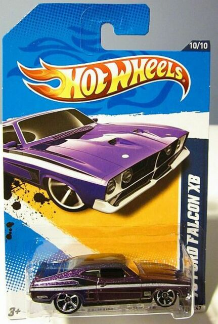 HOT WHEELS 2012 MUSCLE MANIA ' 73 Ford Falcon XB GT 351 V8 Metallic PURPLE