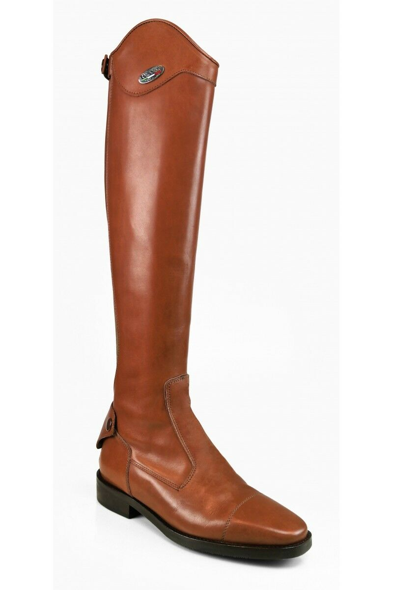 Brogini Livorno Dress Long Leather Riding Boots-Competition Prestige-Brown