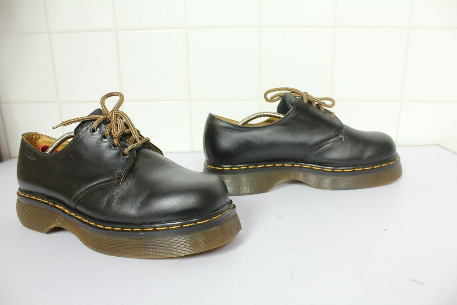 Vintage Rare 90's Platform Herrenschuhe Schwarz Eu 46-Uk 11 made in England