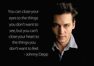 Details Zu Inspirierend Motivations Zitat Poster Aufdruck Johnny Depp