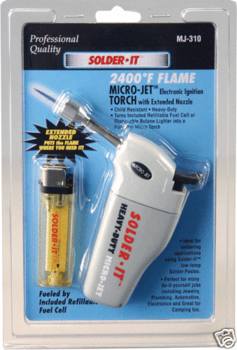 Solder-It Micro-Jet Torch W//Extendable Flame #MJ-310
