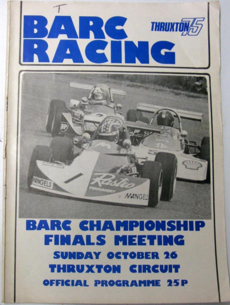 Thruxton deslizadores campeonato Racing 26th 26th 26th Oct 1975 Motor Racing Programa Oficial a7e36d