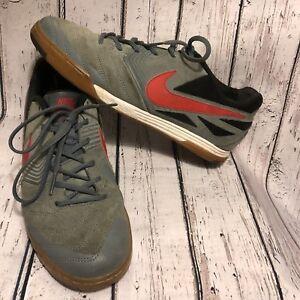 5de23b71856 Men s Nike Indoor Soccer Shoes Workout LunarGato Lunarlon 9.5 Gray ...