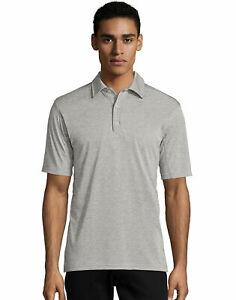 Hanes Men's Heathered Performance Polo Shirt Sports Golf Cool DRI Comfort S-2XL