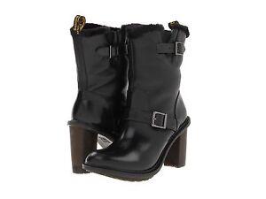 1c32a5e9727 Dr. Martens Women s Hanna Engineer Boot Black ALL SIZES Retail  180 ...