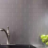 Art3d 100-pieces Peel And Stick Backsplash Tiles Stainless Steel Aluminium 3 X
