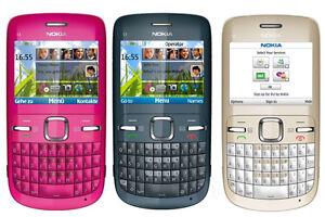 NUOVO SBLOCCATO ORIGINALE Nokia C3-00 Wi-Fi Tastiera QWERTY FOTOCAMERA TELEFONO MOBILE BAR HOT