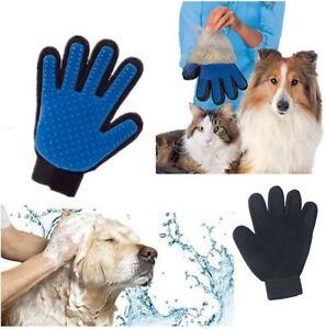 Pet-Dog-Cat-Grooming-Gentle-Cleaning-Glove-Hair-Dirt-Remover-Brush-Deshedding-UK