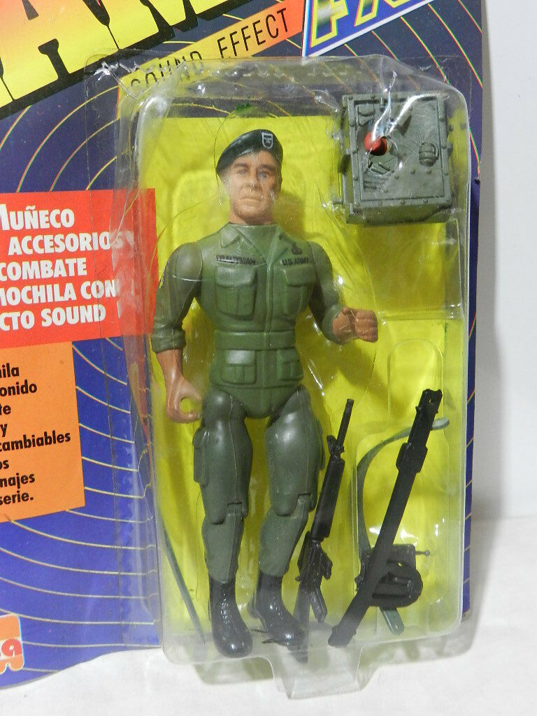 VINTAGE RAMBO ACTION FIGURE COLONEL TRAUTMAN SEALED IN CARD FX JOCSA 1980'S