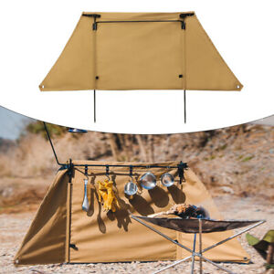 Camping Wind Shield Grills Gas Stove Canvas Windscreen Hiking Wind Deflector