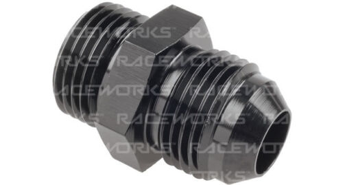 RACEWORKS MALE FLARE AN-10 TO O-RING BOSS AN-10 RWF-920-10BK