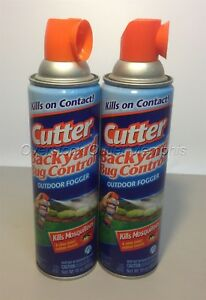 Two (2) Cutter Backyard Bug Control Spray Cans- Outdoor ...
