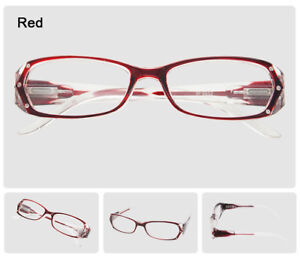 f3e973c615 Image is loading Women-Rectangle-Rhinestone-Reading-Glasses-Frames-Fashion- Spectacles-
