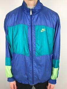Détails sur Vintage 90 s Nike Swoosh Veste de survêtement | Classic Sport Rétro | XL vert afficher le titre d'origine