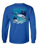 Salt Grown Long Sleeve Saltwater Sailfish Fishing T Shirt Life Billfish 50/50