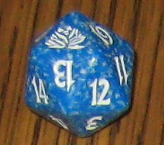 20 sided Spin Down Dice MtG Magic the Gatherin 1 Blue SPINDOWN Die Black Lotus