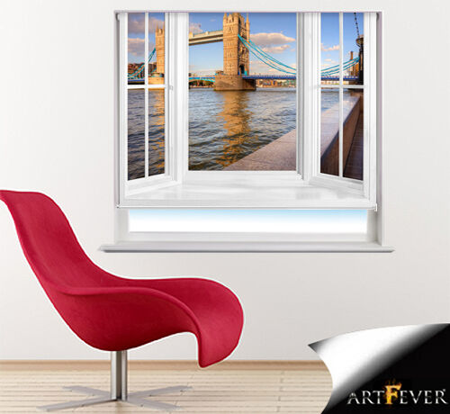 PRINTED PHOTO ROLLER BLIND OF LONDON TOWER BRIDGE RB26 WINDOW FRAME VIEW