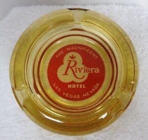 1950-039-s-034-The-Magnificent-Riviera-Hotel-amp-Casino-034-Ashtray-Las-Vegas-Nevada-Amber