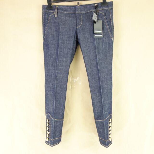 99a02d75a6c602 DSQUARED2 Dsquared D2 Women's Jeans Trousers S75KA0687 It 40 42 Crop Denim  Np