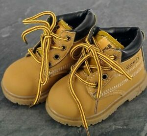 Baby boy boots, shoes, tan brown, 12