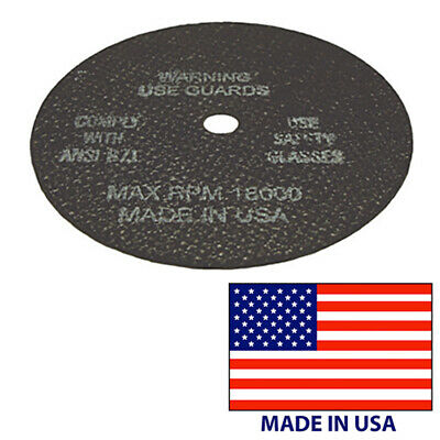 "10 USA Cut-Off Wheel 3/"" x 1//16/"" x 3//8/"" Die Grinder 18,000 RPM Cutting Disc"
