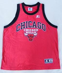 Chicago Bulls Starter Shirt Taille L 48 Vintage 90er Nba Original 90 S Maillot Size-afficher Le Titre D'origine